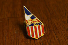 USA Swimming Pins Olympic Vintage Swim Pinback Team Pin Trading
