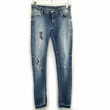 Anthropologie Reiko Womens Distressed Skinny Mid Rise Jeans Size 26