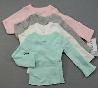 LOT BRAND NEW!  CARTER'S PREEMIE BABY GIRL 4PC EYELET SIDE SNAP SHIRTS