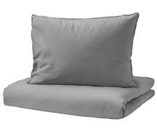 IKEA ÄNGSLILJA Bettwäsche Set 2/3-tlg Bettwaren Grau Bettgarnitur 150/200x200 cm