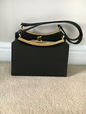 ladies patent Type Black Handbag
