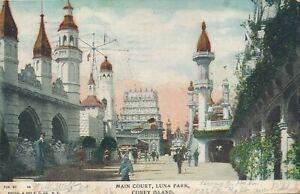 BROOKLYN NY – Coney Island Luna Park Main Court – udb – 1906