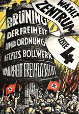 Art Ad German Anti Hitler  Propaganda  Poster Print