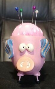 Pin Cushions novelty gift sewing quilting wobbly pink pig farmyard animals