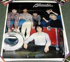"1979 Original Vintage *Blondie* 19X26"" Color Music Poster Wh64!M"