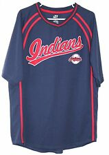 Cleveland Indians Official MLB Embroidered Jersey LARGE Blue Baseball