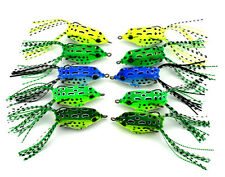 Lot 10pc Rubber Soft Bass Frog Baits Fishing Lures Top water 5.5cm 2.2inch 8g A2