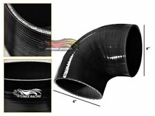 """4"""" Silicone Hose/Intake/Turbo/Intercooler Pipe Elbow Coupler BLACK For Dodge"""