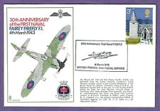FAIREY FIREFLY 30th Anniversary , pictorial cancel , flown GB cover - 1973