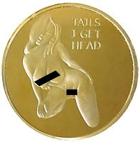 Pin Up Girl Gold Mirror Heads Tails Good Luck Challenge Coin US SELLER FAST SHIP