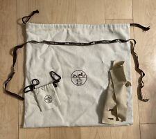 "Authentic Hermes XXL Handbag Storage Dust Bag Gift Felt Set Bundle 18"" x 17"""