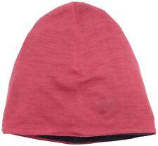 Buff Lightweight Reversible Merino Wool Beanie Hat, Solid Wild Pink One Size