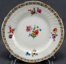 KPM Berlin Hand Painted Dresden Style Floral & Gold Luncheon Plate C 1870 - 1945