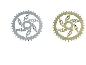 "CAGED Bicycle ChainRing  44T x 1/2"" x 1/8 CHROME GOLD BLACK Lowrider Bikes"