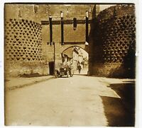Montreuil-Bellay Francia Foto Stereo Placca Da Lente Vintage 1925