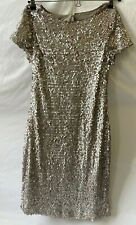 "M & Co Silver/Pink Sequin Dress BNWT - Size 10 ""Vintage Goddess"" - (NCF)"
