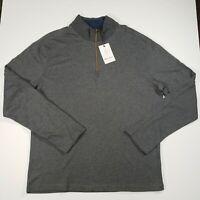 Robert Graham Hunts 1/4 Zip Pullover Sweater Gray [Men's XL] $198 MSRP