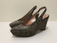 Scanlan Theodore Sandals ~ 41 ~ Great Cond Wedge Platform Slingback Shoes Woven