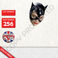 cat woman CARD FACE MASK MASKS FOR PARTY FUN HALLOWEEN FANCY DRESS UP