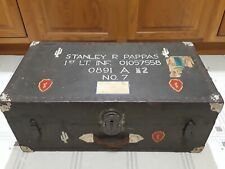 Vintage Army Infantry Trunk With Original Shipping Labels
