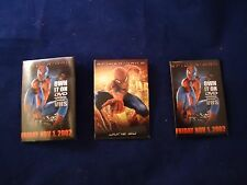 Lot of 3 Spider-Man 2002 Movie Button Badge VHS / DVD Release Marvel Spiderman 2