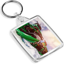 Awesome Green Snowmobile Keyring Snow Mobile Skiing Ski Snowboard Gift #15979