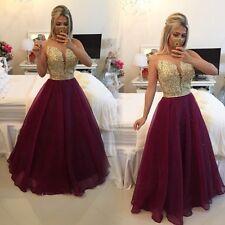 Burgundry Organza Long Prom Dress Dress Vestido De Festa Evening Dresses 2016
