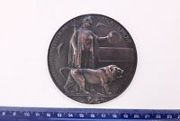 WW1 MINIATURE DEATH MEMORIAL PLAQUE DEAD MANS PENNY MEDAL PLATE ARMY NAVY RFC