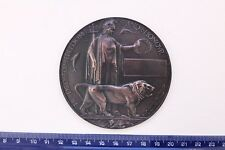 WW1 MINIATURE DEATH MEMORIAL PLAQUE PENNY MEDAL PLATE