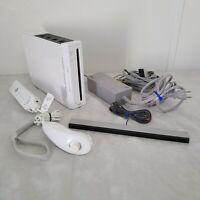 Nintendo Wii Console RVL-101 White W/Nunchuk/Sensor Bar/Cords Pre-Owned