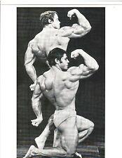 Arnold Schwarzenegger / Franco Columbu 1975 Mr Olympia Contest Photo B&W