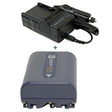 BATTERY PACK + CHARGER For NP-FM50 NP-FM30 Sony Handycam DCR-TRV265E Camcorder
