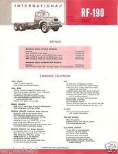 Truck Brochure - International - RF-190 - Red (TB471)