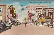 Looking Down Main Street Little Rock AR Postcard