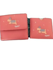 Radley puddles purse and mirror set brand new, in pink coin and card space