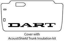 1965 1966 Dodge Dart Trunk Rubber Floor Mat Cover with MA-015 Dodge Dart