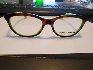 NEW DOLCE & GABBANA DD 1245 2687 TORTOISE/GREEN Eyeglasses 53-16-140 PERFECT