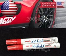 2x Red Waterproof Oil Based Pen Paint Marker For Honda Tire Wheel Tread Rubber