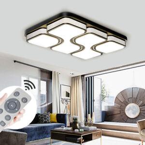 100W LED Deckenleuchte Badleuchte Deckenlampe Schwarz Wohnzimmer Lamp Dimmbare