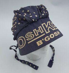 OSH KOSH B'GOSH Old Fashioned Baby's Bonnet Hat Blue w/ Polkadots Union Made USA