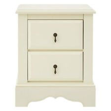 Florence Chest of 2 Drawers Ivory Bedside Cabinet Organizer Storage Unit