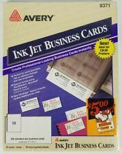 Avery 8371 Inkjet Business Cards 250 Standard Cards 2 X 3 12 New Sealed