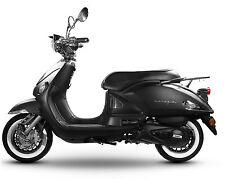 Retro Roller Mofa 25 45 KmH Motorroller 50 49 ccm Moped schwarz/matt VENEZIA NEU