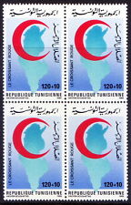 Tunisia 1986 MNH Blk 4, Red Cross, Red crescent Map (L38)