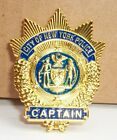 NYPD Police Captain MINI badge shield LAPEL PIN not coin Capt
