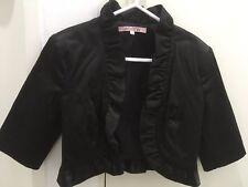 Review Elegant Black Business/Party Bolero/Jacket Size 6