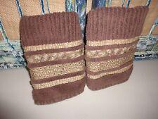 CHRIS MADDEN BROWN LEOPARD CHEETAH SAFARI ANIMAL 2PC) SET HAND TOWELS 13 X 24