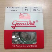 ANZUELOS  MONTADOS 2123 B Nº11  GRAUVELL   10 PCS