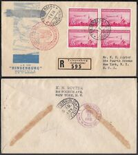 Liechtenstein 1936 - Airmail cover  to New York.  Zeppelin....(8G-34830) MV-5008