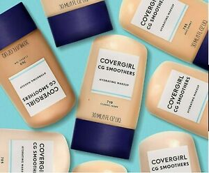 COVERGIRL CG SMOOTHERS Hydrating Makeup Liquid Foundation CHOSSE YOUR SHADES